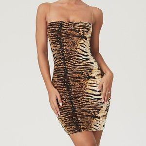 Tiger bodycon dress